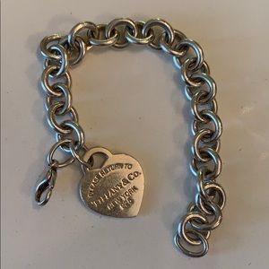 Tiffany and Co. Heart Tag Charm Bracelet